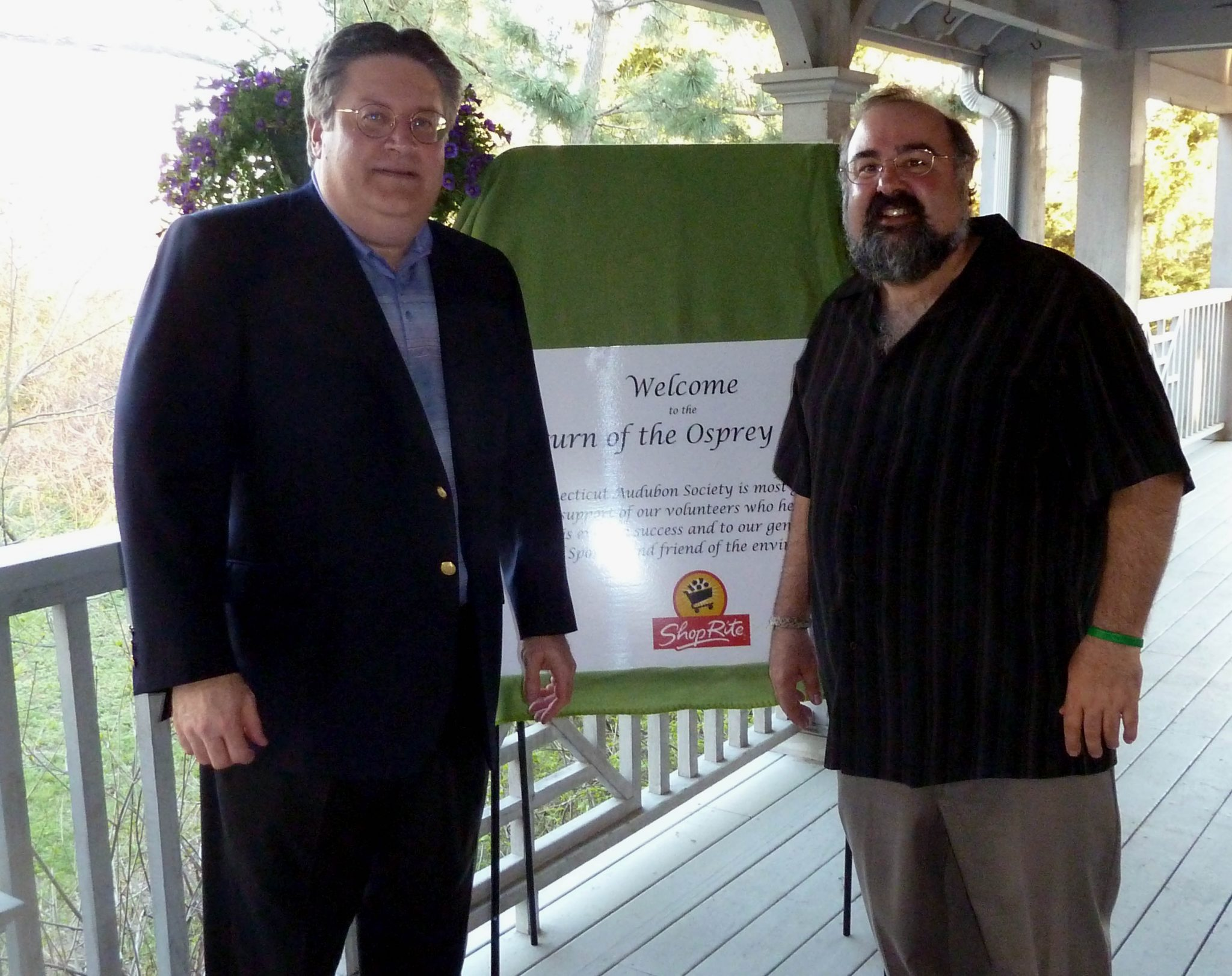 Harry Garafalo from Shoprite with Frank Gallo, Director of the Coastal Center