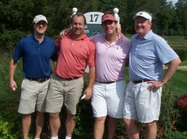 The Credit Suisse foursome at last year's outing.