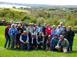 This EcoTravel group happily participated in a Block Island weekend trip. Photo Copyright Connecticut Audubon Society