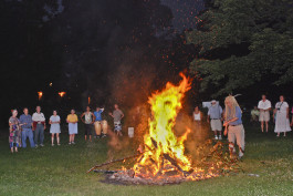 Summer Solstice bonfire