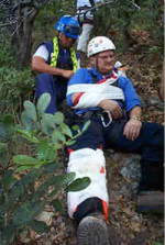 Man with Splint - First Aid Rescue