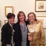 Event Co-chairs Eileen Riccardi and Judy Richardson with artist Kelly Radding.