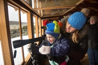Families love the eagle viewing site. Photo courtesy of FirstLight.