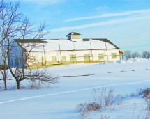 mid January 2011: Roof completed, snow moving in
