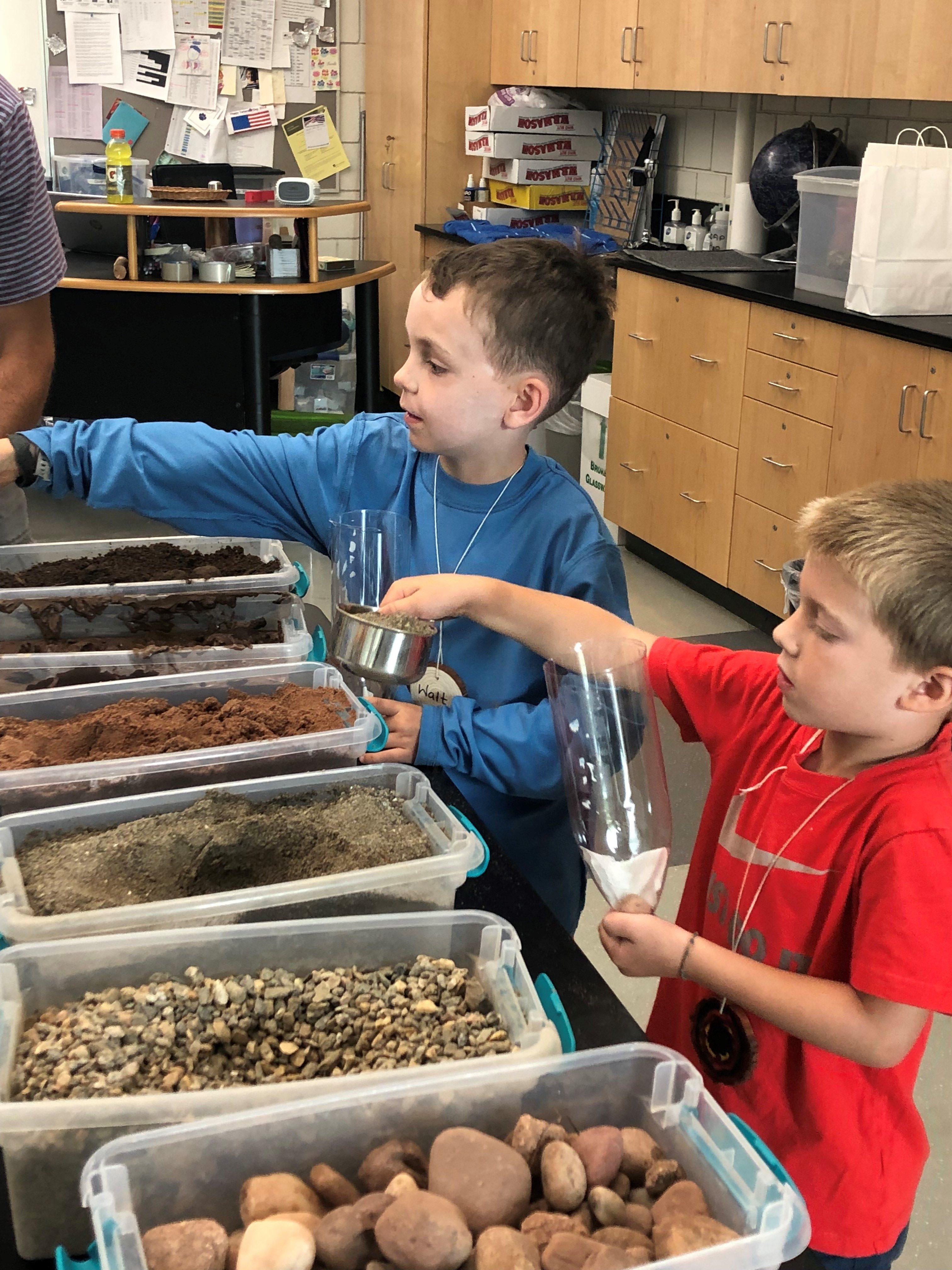 soil retention experiment