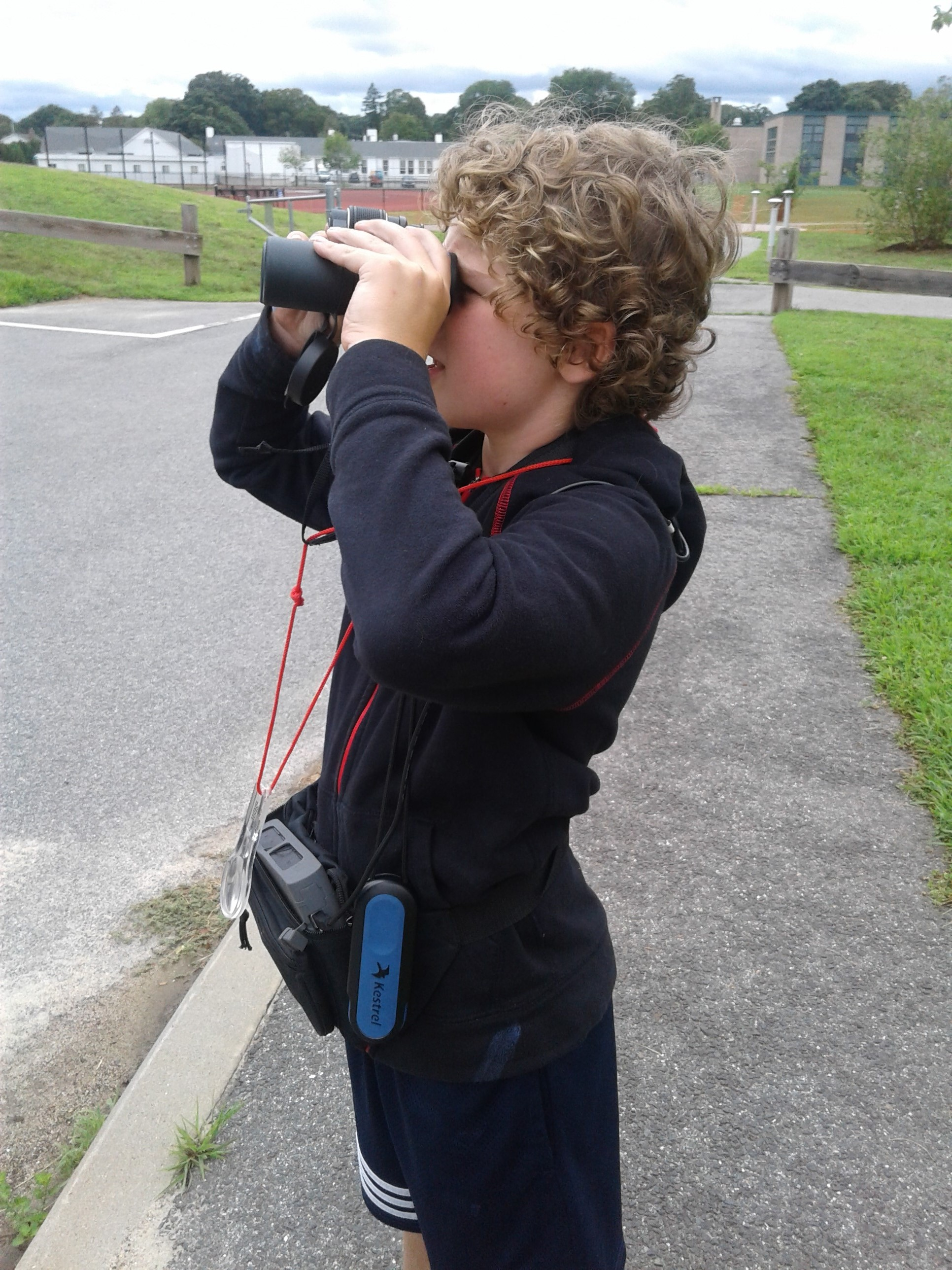 using binoculars