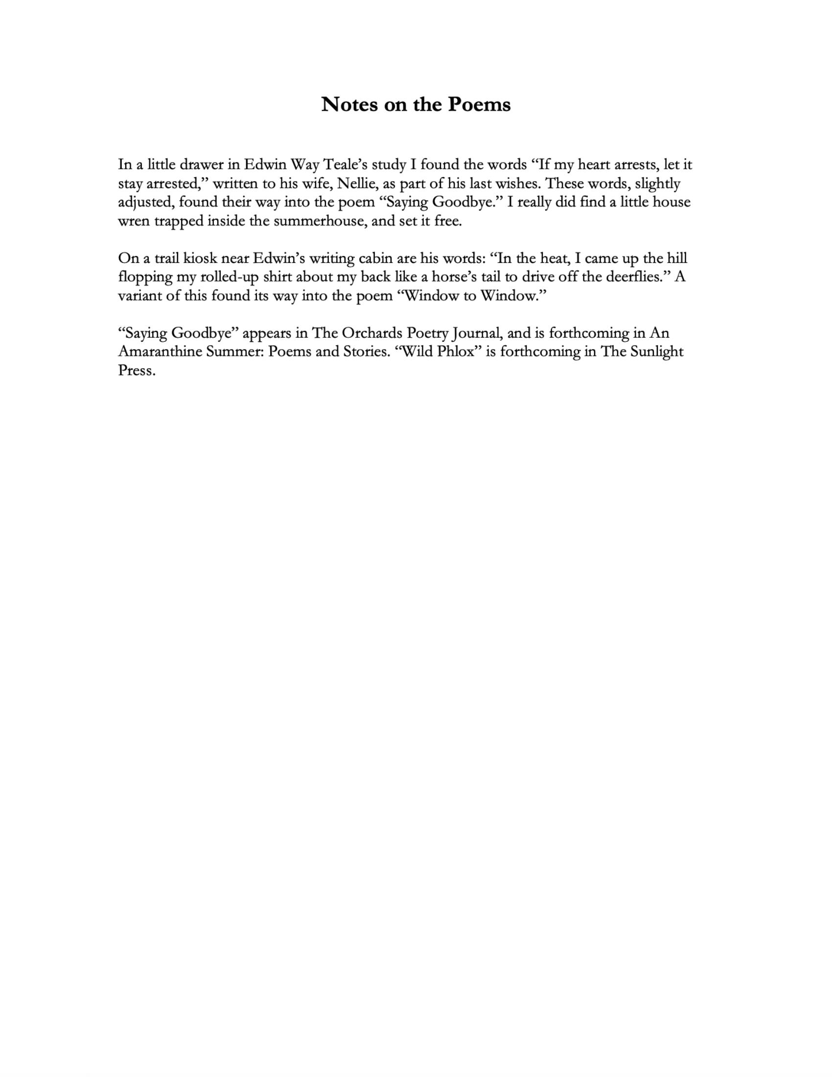 S.Nacker Poem Notes